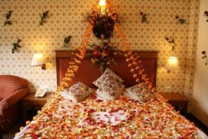 Flower Bed Decoration for Honeymoon Couple