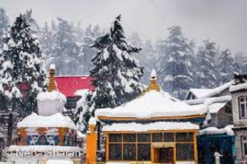 Snowfall in Manali, Himachal Pradesh